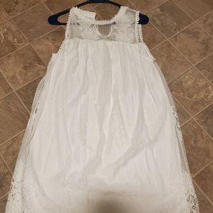 Juniors No Boundaries White Lace dress size Large!